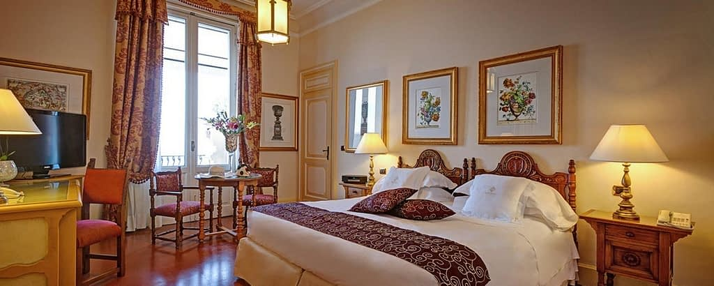 The interiors of a suite at San Domenico Palace, Taormina, A Four Seasons Hotel