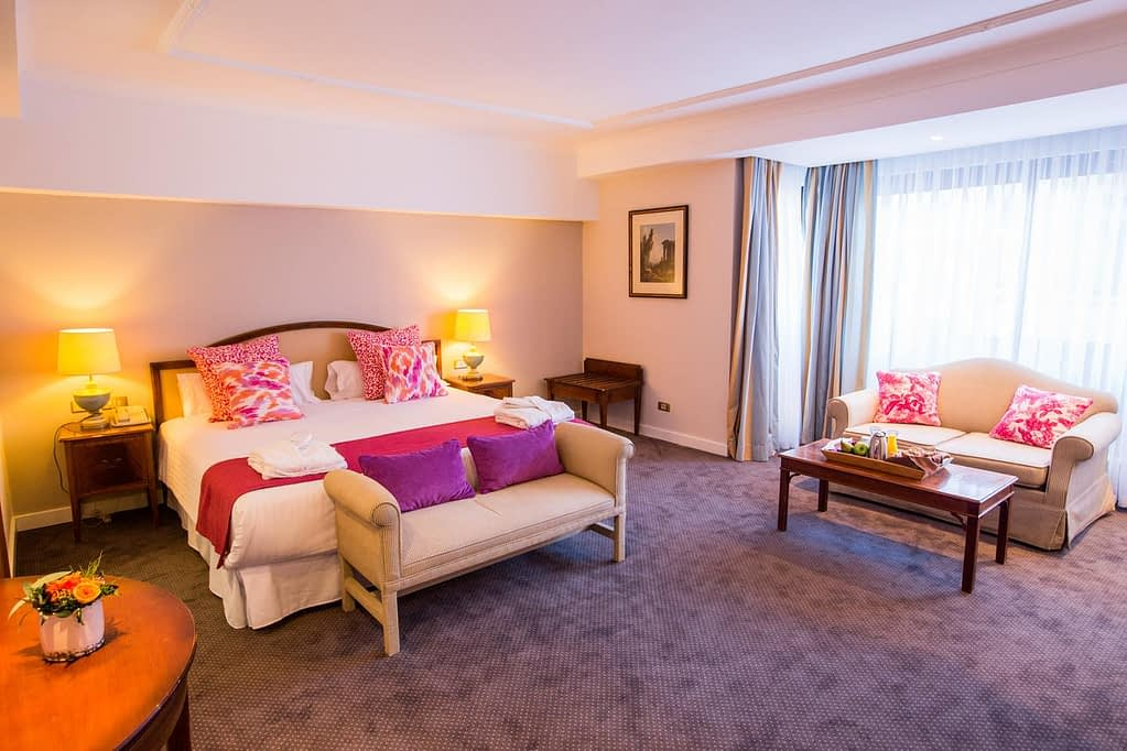 The interiors of a suite at Hotel Avenue Louise Brussels