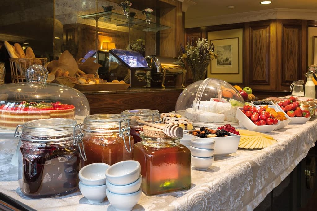 Breakfast and snacks served for the guests at Hotel Avenue Louise Brussels