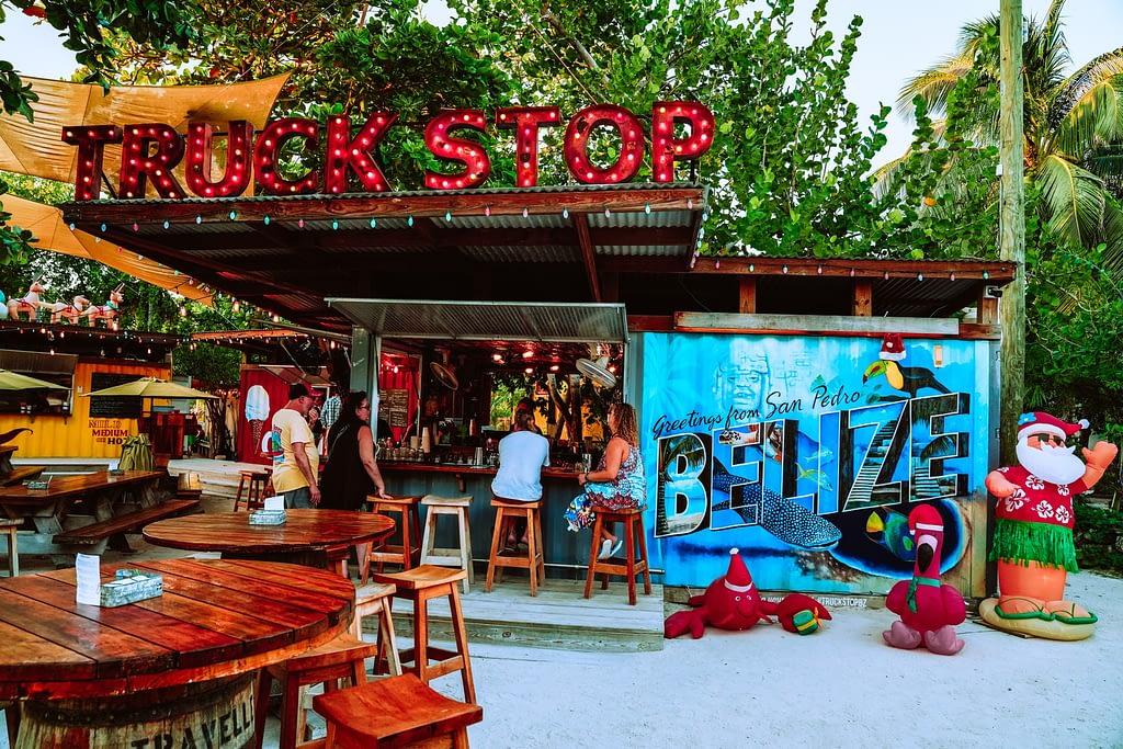 Tourists enjoying at San Pedro in Belize