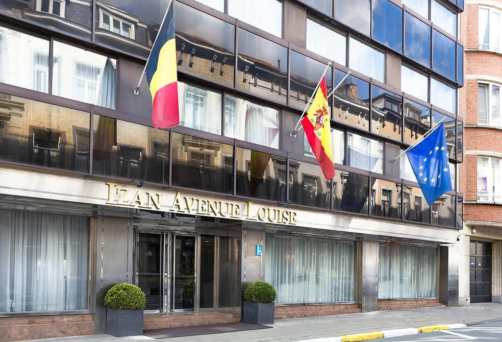 The facade of the Hotel Avenue Louise Brussels by Wyndham