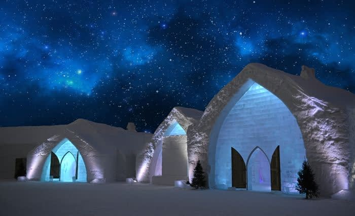 The iconic Hotel De Glace exteriors