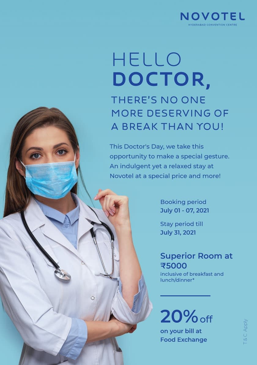 Novotel Hyderabad Convention Centre brings special offers on National Doctor's Day